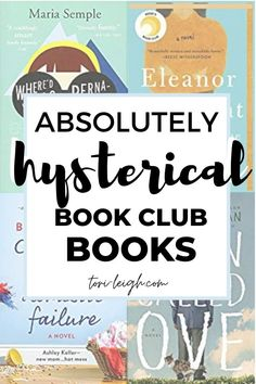 Are you looking for funny book club books to liven up your next meet? Find hysterical, quirky, and completely relatable titles in this book list! Book Club List, Book Club Reads, Book Lists, Good Book Club Books, Books You Should Read, Best Books To Read, New Books, New Fiction Books, Best Books List