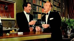 "Frank Sinatra and Bing Crosby singing ""Well, did you evah!"""