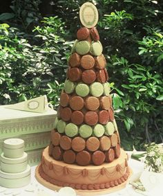 Or maybe a wedding cake made entirely out of macaroons?