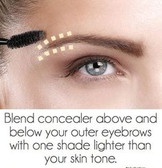 refine the outer and below edges with concealer