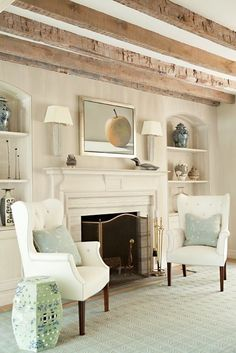 Love the way the built ins are done and those fabulous beams!