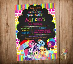 My Little Pony Pool Party Invitation My Little por CutePartyFairy