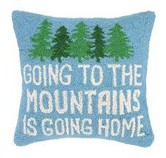 Cabin Life Hook Wool Throw Pillow