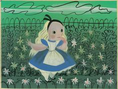Alice Concept Art Painting by Mary Blair | animation art