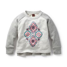 Zulema Stitched Sweatshirt | Zulema is an Indian girl's name that means full of beauty. This style gets its good looks from a kantha quilt that caught our eye.