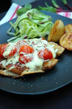 Gordon Ramsay - you CAN cook  delicious  chicken, mozzarella cheese, tomatoes.