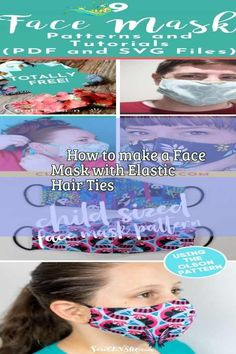 ✂️How to make a Face Mask with Elastic Hair Ties Surgical Cap And Face Mask Pretend Play Free Pattern - Agnes Creates. Learn how to make surgical scrub caps and surgical face masks in adult and child sizes. Get my free printable pdf pattern and follow a detailed step by step tutorial! #facemask #mascaras  #maschere #masken #masks #masques #mask #facemasks<br> Diy Mask, Diy Face Mask, Face Masks, Crochet Faces, Acne Face Mask, Elastic Hair Ties, Headband Pattern, Face Hair, Scrub Caps