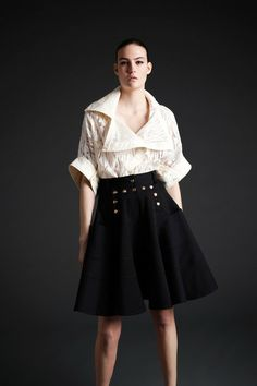 Nice top. Proportion is really good. Very architectural.  -- McQ Alexander McQueen Fall 2013 RTW