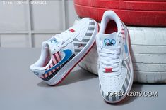 Nike Air Force 1 Low X Disney Classic Unisex Skateboarding Shoes White Blue Grey Pink Latest