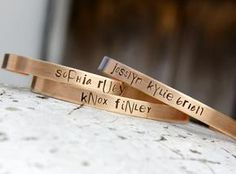 Custom Hand Stamped Cuff Bracelet with Message
