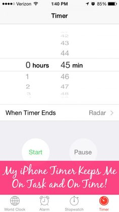 My iPhone Timer Keeps my On Task and On Time! I have so many places to be and things to do! Here is how I use the timers on my iPhone to stay on time. | Organize 365