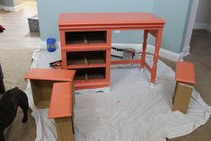 Ideas For Diy Desk Makeover Laminate Furniture No Sanding Refurbished Furniture, Repurposed Furniture, Painted Furniture, Repurposed Items, Furniture Projects, Home Projects, Diy Furniture, Wardrobe Furniture, Furniture Refinishing