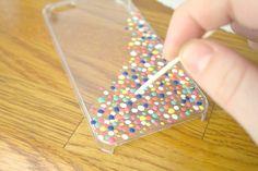 Gav + Ro: DIY // Confetti Phone Case