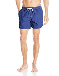 Introducing BOSS HUGO BOSS Mens Lobster 5 Inch Solid Swim Trunk BlueWhite XLarge. Great product and follow us for more updates!