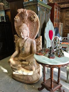 GARDEN SCULPTURE BUDDHA STONE STATUE RESORT DESIGN EARTH TOUCHING POSE ZEN DECOR | eBay    http://stores.ebay.com/mogulgallery/_i.html?rt=nc&_sid=3781319&_trksid=p4634.c0.m14.l1513&_pgn=6