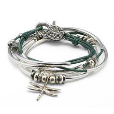 Dragonfly Handmade Artisan Leather Wrap Bracelet – Lizzy James
