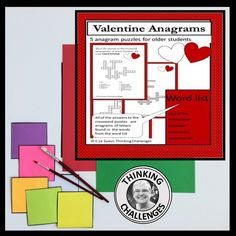 Why not challenge your middle school students with this no prep Valentine's Day anagrams packet? All the puzzles are anagrams of words associated with Valentine's Day. Spread the love!