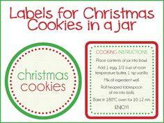 {The Organised Housewife} Christmas Cookies in a jar labels