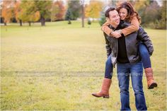 Cute piggy back engagement photo! #couple #love #photography