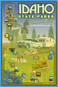 Map of Idaho's state parks. http://parksandrecreation.idaho.gov/find-a-park-by-map