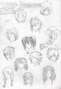 Anime Hairstyles by ~blackpapermoon95 on deviantART