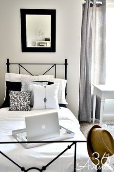 The thirty sixth AVENUE | Black and White Bed room Reveal. >>> Discover even more at the photo