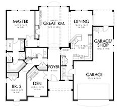 Craftsman Style House Plan 2 Beds Baths 1728 Sqft 48 2500 Sq Ft Plans No  Garage