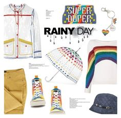 """Rainbow rain"" by edita1 ❤ liked on Polyvore featuring Totes, Marc Jacobs, Rocket Dog, Karen Kane, Sarah's Bag and rainyday"
