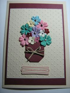 cards made with Stampin' Up! Owl punch, scallop envelope made into a car, embossing folders, a retirement card and calendars