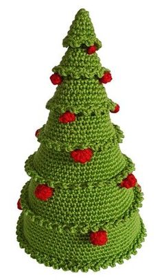 alberello crochet Crochet Christmas Gifts, Crochet Christmas Decorations, Christmas Crochet Patterns, Holiday Crochet, Crochet Flower Patterns, Christmas Knitting, Crochet Gifts, Crochet Tree, Crochet Santa