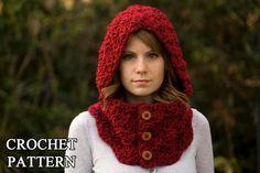 Burton Bear Cowl Free Pattern | CROCHET PATTERN Hooded Cowl, Button Neck Warmer, Crochet Hoodie