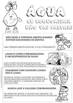 Atividade Dia da Água Livrinho Conta Gotas Dicas para Economizar com Turma da Mônica | Ideia Criativa - Gi Barbosa Educação Infantil