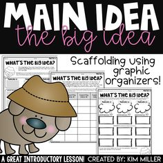 5 Fail-Proof Ways to help you teach students how to identify the main idea & the supporting details of a passage, short story. Main Idea Activities, Free Activities, Teaching Main Idea, Help Teaching, Elementary Teaching, Kinesthetic Learning Style, Main Idea Lessons, The Important Book, What's The Big Idea