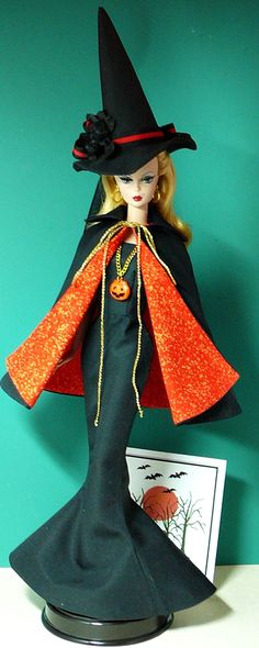 Even Barbie celebrates Halloween.  Who will your Barbie be trick or treating as this year?