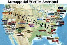 Mappa delle serie tv americane...molto interessante!!!