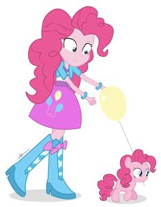 Pony and eguestrian girl Pinkie Pie