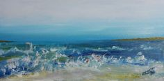 AcrylicImpressionist Seascape Ocean by FlowerBranchStudio on Etsy, $145.00