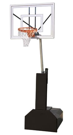 First Team Thunder Ultra Portable Adjustable Basketball Hoop 54 inch Tempered Glass from NJ Swingsets