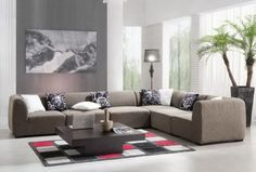 48 Sofa Design Ideas for Your Living Room Decoration # Simple Living Room, Living Room On A Budget, Living Room Grey, Living Room Modern, Interior Design Living Room, Living Room Designs, Living Rooms, Modern Sofa, Interior Paint