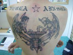 El juego del bien y del mal #peluandtattoo #nanotattoo #tatuaje #sanjuan