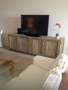 Pallet #TV Cabinet - 20 Excellent #Pallet Furniture Projects | 101 Pallets
