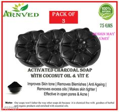 Soap Dispensers Arnved Activated Charcoal Soap-Pack Of 3  Pack: Pack of 3 Country of Origin: India Sizes Available: Free Size   Catalog Rating: ★3.8 (352)  Catalog Name: Arnved Proffesional Soaps Combo Vol 3 CatalogID_903925 C132-SC1588 Code: 022-5971084-333