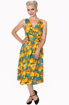 Banned Apparel Laneway Oranges Dress