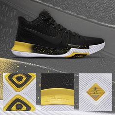 c22237b2ecb2 Primed for another championship run. The Nike Kyrie 3  Black Yellow  is  available now.