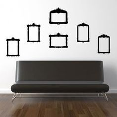 6-Piece Frame Wall Decal Set in Black