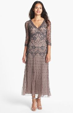 I wish I could wear this type of thing!  Pisarro Nights Beaded Mesh Dress (Regular & Petite) available at #Nordstrom