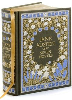 Jane Austin... with this hard cover, lovely!  was in the movie 'The Jane Austen Book Club' (great movie)