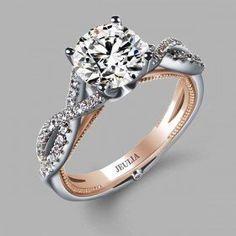 JEULIA  :D  Twist Style Rhodium Plating Brilliant Cut Engagement Ring