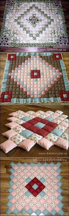 Детское лоскутное одеяло - отличный подарок и долгая память (МК).