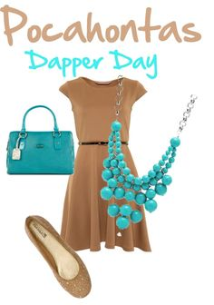 """""""Pocahontas- Dapper Day"""" by teacupscaroline ❤ liked on Polyvore"""